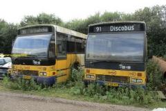 Volvo bus buiten dienst